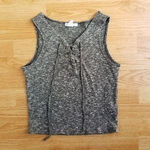 3/$30 Streetwear Sxciety stretchy grey crop tank